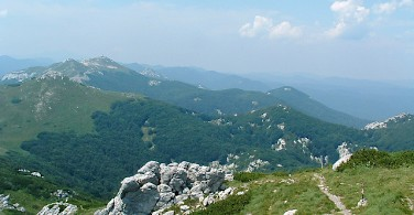 Walking trails through Risnjak National Park, Croatia. Photo via Flickr:Kristof Arndt