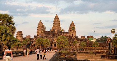 The famous Angkor Wat Temple, Cambodia. Photo via Flickr:Christian Haugen