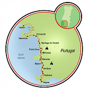 Portugal's Wild Coast Map