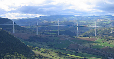 Great view of the Millau viaduct. Photo via Flickr:NAParish