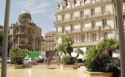 Place Gabriel Péri in Béziers, France. CC:Demeester