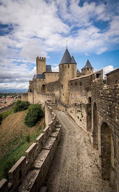 Château de Carcassonne in Carcassonne, France. CC:Julie.Dz