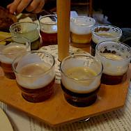 Beer tasting in Prague, Czech Republic. Flickr:Ralfsmallkaa