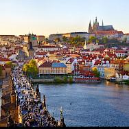 The famous Charles Bridge in Prague, Czech Republic. Flickr:Moyan Brenn