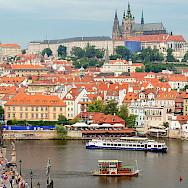 Charles Bridge over the Vltava River in Prague, Czech Republic. Creative Commons:PeterKBurian