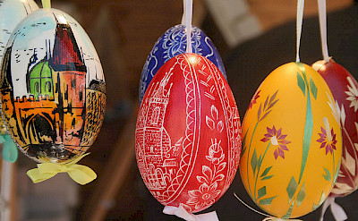 Decorative eggs are commons during holidays in Czech Republic. Flickr:Liz Jones