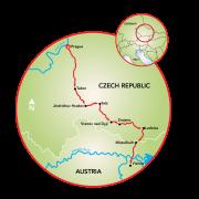 Prague to Vienna Map