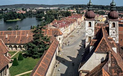 St James Church Tower in Telč, Moravia, Czech Republic. Creative Commons:Michal Lewi