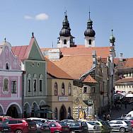 Telc, a UNESCO Site in southern Moravia, Czech Republic. Wikimedia Commons:Jerzy Strzelecki