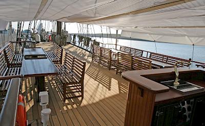 Outdoor seating - Atlantis | Bike & Boat Tours