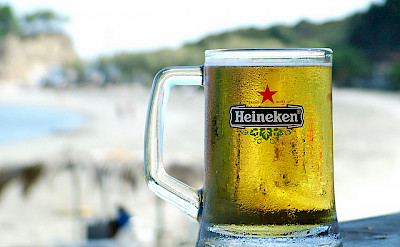 Cold glass of Heineken after the bike ride! Flickr:md-2
