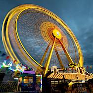 Merry-go-round at Volksfest in Aschaffenburg, Bavaria, Germany. Flickr:Carsten Frenzl
