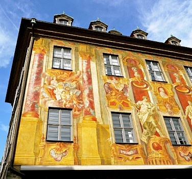 Beautiful paintings on the Old City Hall Building. Photo via Flickr:Resident on Earth