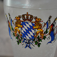 Flag of Bayern on a beer glass, typical Germany. Flickr:Christian Benseler