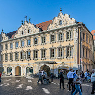 Falkenhaus on Marktplatz 9 in Wurzburg, Bavaria, Germany. Wikimedia Commons:Krzysztof Golik