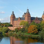 Schloss Johannisburg on River Main in Aschaffenburg, Bavaria, Germany. Wikimedia Commons:Rainer Lippert CC0