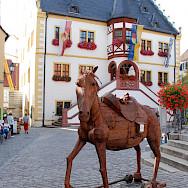 Rathaus of Volkach, a wine town in Bavaria, Germany. Flickr:Matthias Zepper