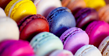 Macarons in the Patisserie in the Champagne region of France. Photo via Flickr:julien haler