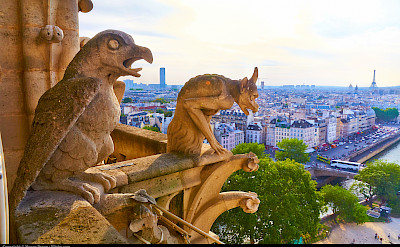 Gargoyles on Notre Dame Cathedral, Paris, France. Flickr:Moyan Brenn