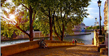 Paris along the Seine River. Photo via Flickr:Moyan Brenn