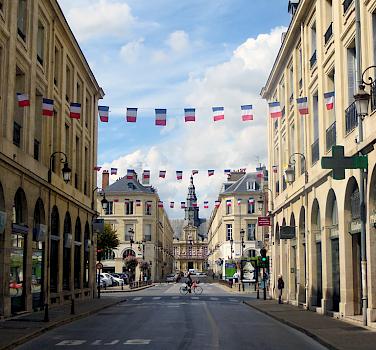 Biking through Reims, France. Photo via Flickr:Morgaine