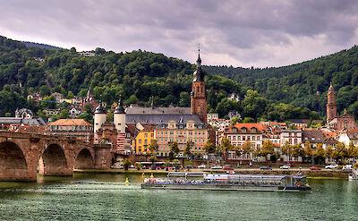 Heidelberg on the Neckar River in the Rhine Rift Valley. Flickr:alex hanoko