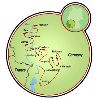 Frankfurt a Ludwigsburg Map