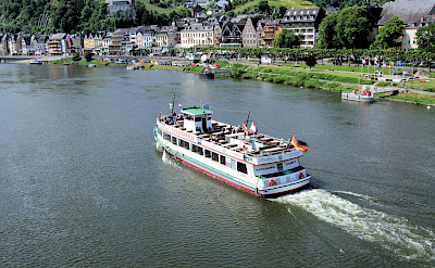 Sailing the ferry on the Mosel River in Cochem, Germany. Flickr:Jim Linwood