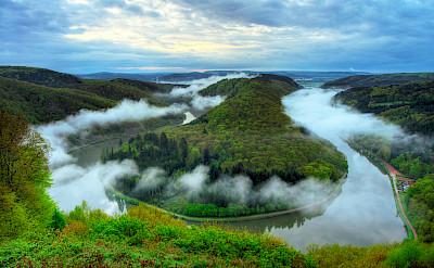 Grand Bend of the Saar River near Mettlach, Germany. Flickr:Wolfgang Staudt