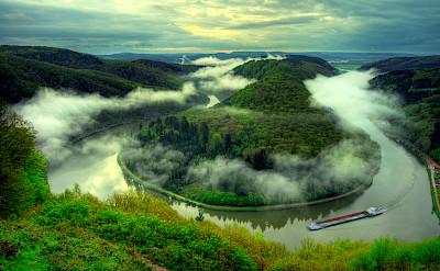 The great Saar River bend near Mettlach, Germany. Flickr:Wolfgang Staudt