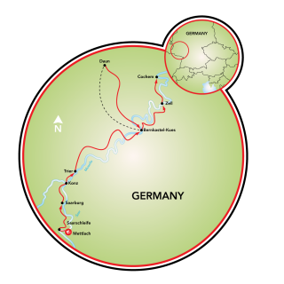 Mosel and Saar Map