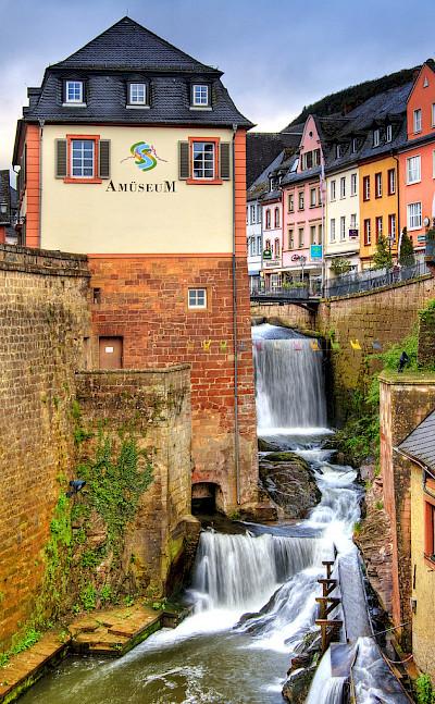 AmüseuM by the famous Waterfall in Saarburg, Germany. Flickr:Wolfgang Staudt