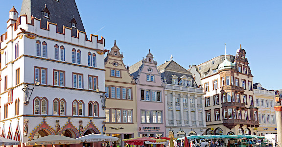 Marketplace in Trier, Germany along the Mosel River. Flickr:Dennis Jarvis