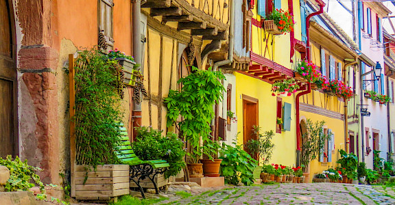 Eguisheim in Alsace, France is a gorgeous town. Photo via Flickr:Kiefer