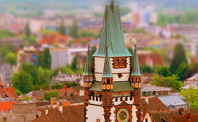 Clock tower in Freiburg im Breisgau, Germany. Flickr:rolohauck