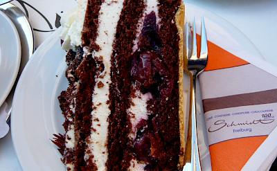 Schwarzwälder Kirschtorte cake in Freiburg, Germany. Flickr:Jessica Spengler