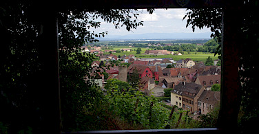 Overlooking Kaysersberg in Alsace, France. Photo via Flickr:yannick ledein