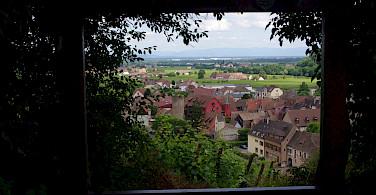 Overlooking Kaysersberg in Alsace, France. Photo via Flickr:yannick ledein