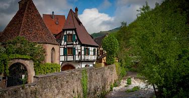 Small town living in Kaysersberg, Alsace, France. Photo via Flickr:Arnaud Fraioli