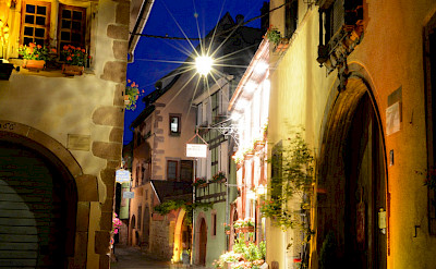 Evening in Riquewihr, Alsace, France. Flickr:Pug Girl