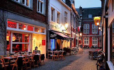 Cobblestone streets zigzag through Maastricht, Limburg, the Netherlands. Flickr:Jorge Franganillo