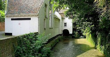Jeker River runs through Maastricht, Limburg, the Netherlands. Photo by Sundowners