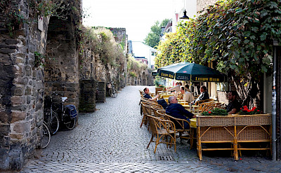 Cafe in Maastricht, Limburg, the Netherlands. ©TO