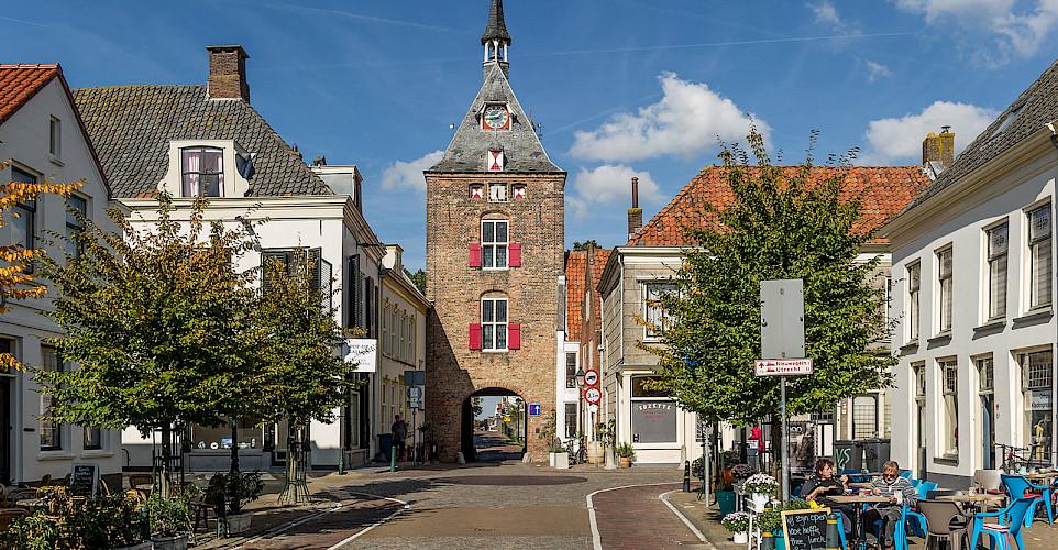 Biking through Volendam, the Netherlands. ©TO