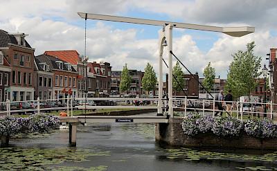 Over the bridge in Weesp, the Netherlands. Flickr:bert knottenbeld
