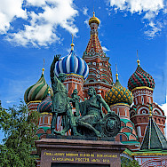 Saint Basil's Cathedral in the famous Red Square, Moscow, Russia. Flickr:koshy koshy