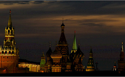 Evening in the Kremlin, Moscow, Russia. Flickr:Vladlslavtep