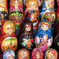 Russian Matryoshka Dolls (nesting dolls) in Moscow. Flickr:neiljs