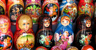 Russian Matryoshka Dolls in Moscow. Photo via Flickr:neiljs