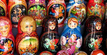 Russian Matryoshka Dolls in Moscow. Photo via Flickr:neiljs